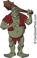 Troll - A gigantic troll with a big bat