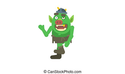 troll, onduler, main, marche, caractère, canal, alpha, ...