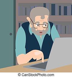 troll, vettore, cartone animato, illustrazione, internet