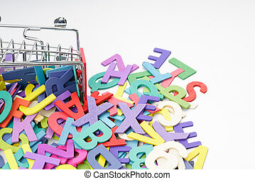 Trolley and alphabet
