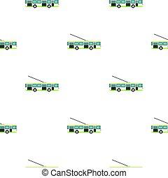Trolley bus pattern flat