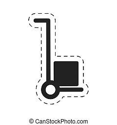 trolley cardboard box delivery cutting line