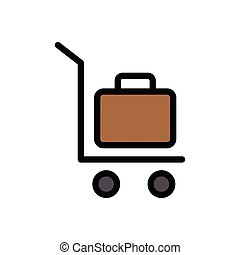 trolley  flat color icon