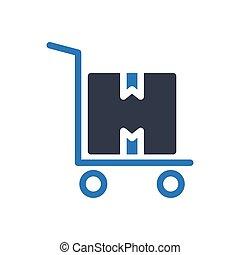 trolley   glyph color icon