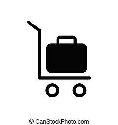 trolley  glyph flat icon