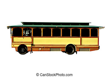 Trolley.  Isolated image with clipping path.
