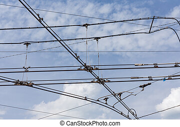 trolley trolleybus electricity cable lines - trolley ...