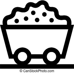 Trolley with ore icon