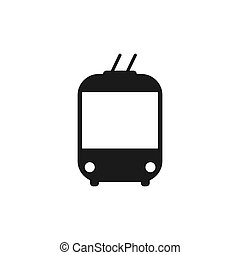 Trolleybus black icon. Transportation silhouette. Vector ...
