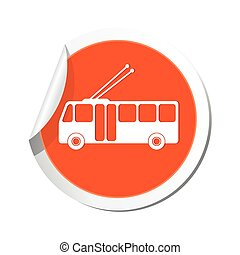 Trolleybus icon. Vector illustration