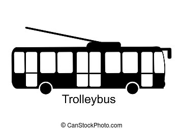 Trolleybus icon vector illustration isolated on white