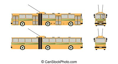 Trolleybus number one - Set stock vector illustration ...
