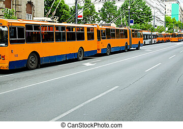 Power grid problems and all trolleybus standstill