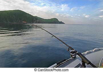 trolling, pêche océan, bateau