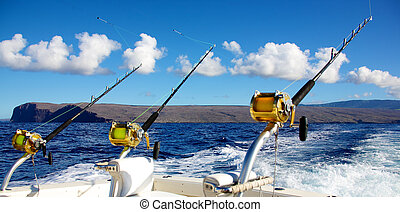 Trolling rods for deep sea fishing