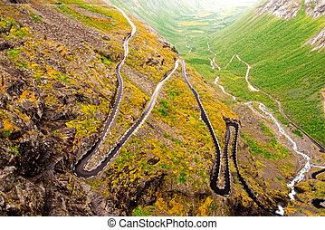 Trollstigen road in Norway