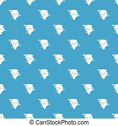 tromb, mönster, vektor, seamless, blå