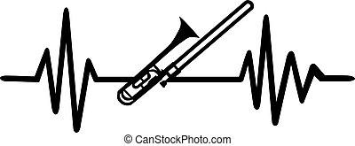 Trombone heartbeat line