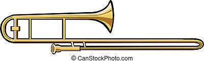 trombone, instrument, musical