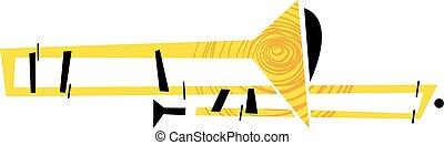 trombone, instrument, muzikalisch