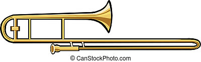 trombone, strumento, musicale