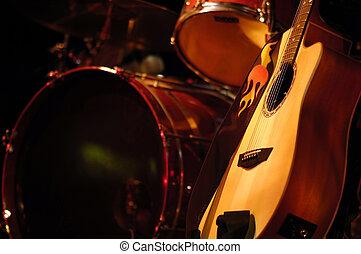 trommeln, und, gitarre
