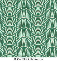 trommen, seamless, havet, japansk, bølge