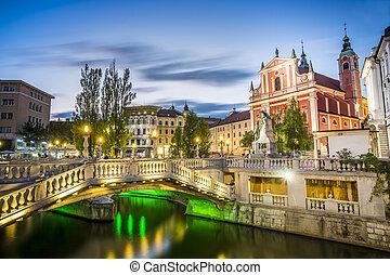 tromostovje, 都市, ljubljana, 中心, スロベニア