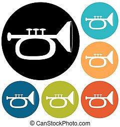 trompeta, ilustración