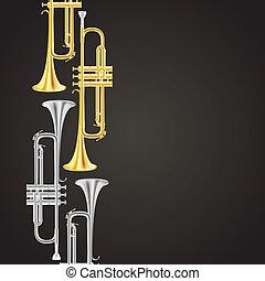 trompeta, plano de fondo