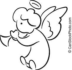 trompete, anjo