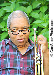 trompete, player.