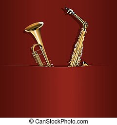 trompette poche, saxophone, ton