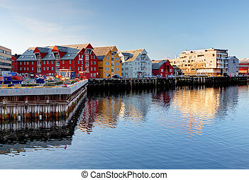 tromso, bâtiment, -, norvège
