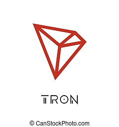 Tron Cryptocurrency Coin Sign Isolated