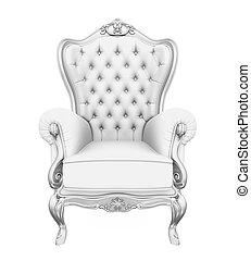tron, krzesło, odizolowany