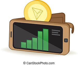 Tron Wallet - Tron Cryptocurrency Coin Digital Wallet