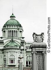 trono, bangkok, neo-clássico, anantasamakhom, arquitetura, tailandia, corredor, italiano