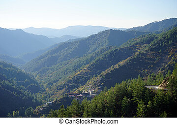 Troodos mountain in Cyprus