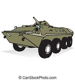 troop-carrier, gepanzert