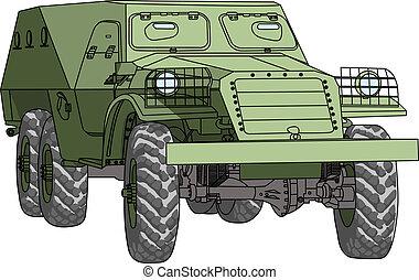 troop-carrier, vetorial, blindado