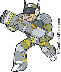 trooper, vector, illustratie ruimte