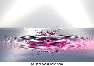 Wassertropfen - Tropfen auf Wassertropfen