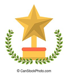 trophée, étoile, conception, isolé