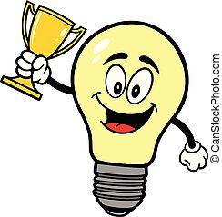 trophée, ampoule