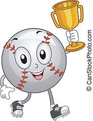 trophée, base-ball, mascotte