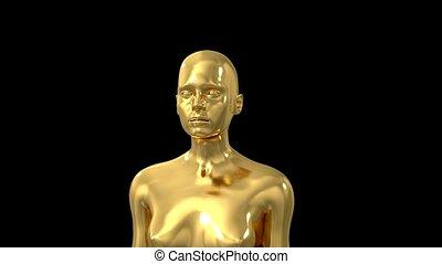 trophée, cérémonie, titre, texte, espace, récompense, intro, 4k, nomination