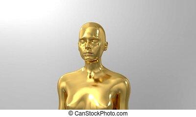 trophée, cérémonie, titre, texte, espace, récompense, intro, nomination