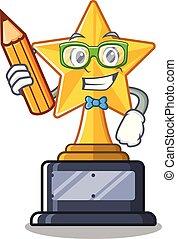 trophée, caractère, forme, étoile, étudiant
