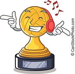 trophée, caractère, volley-ball, forme, musique écouter